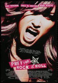 4p0017 PREY FOR ROCK & ROLL signed DS 27x39 1sh 2003 by Gina Gershon, sexy super close up!