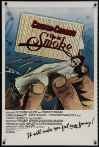 4p0030 UP IN SMOKE signed 24x36 REPRO poster 1978 by BOTH Cheech Marin AND Tommy Chong, great art!