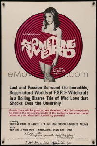 4p0121 SOMETHING WEIRD signed 1sh 1967 by BOTH Herschell Gordon Lewis AND writer James F. Hurley!