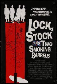 4p0031 LOCK, STOCK & TWO SMOKING BARRELS signed mini poster 1998 by Guy Ritchie AND Jason Statham!