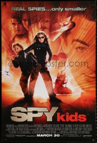 4p0020 SPY KIDS signed advance 1sh 2001 by Alexa Vega AND Daryl Sabara, directed by Robert Rodriguez!