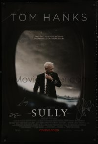 4p0022 SULLY signed int'l advance DS 1sh 2016 by Clint Eastwood, Chesley Sullenberger & Laura Linney!