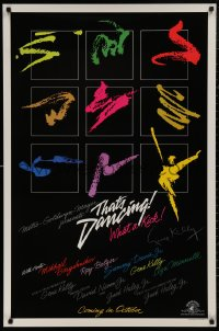 4p0023 THAT'S DANCING signed advance 1sh 1985 by Gene Kelly, colorful art, all-time best musicals!