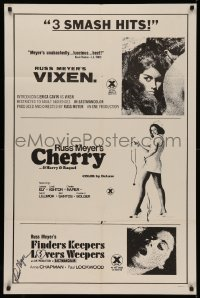 4p0136 VIXEN/CHERRY/FINDERS KEEPERS LOVERS WEEPERS signed 1sh 1970s by director Russ Meyer, rare!