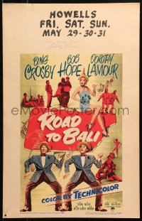 4p0033 ROAD TO BALI signed WC 1952 by Dorothy Lamour, great image with Bing Crosby & Bob Hope!
