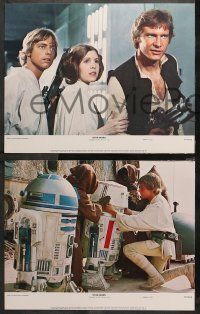 4r0301 STAR WARS 8 color 11x14 stills 1977 George Lucas classic epic, Luke, Leia, complete set!