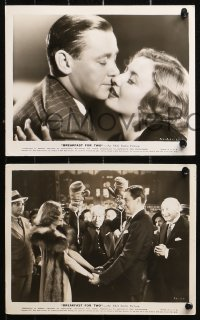 4r1234 BREAKFAST FOR TWO 5 8x10 stills 1937 great images of Barbara Stanwyck & Herbert Marshall!