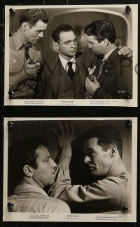 4r1239 CROSSFIRE 5 from 7.75x10.25 to 8x10 stills 1947 Young, Ryan, Grahame, young Robert Mitchum!