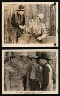 4r1202 LAWLESS FRONTIER 6 8x10 stills R1930s young John Wayne with gun makes man pay the townspeople!