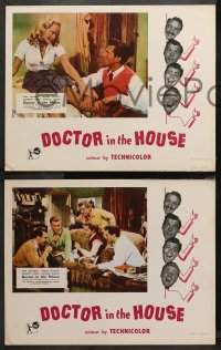 4r0380 DOCTOR IN THE HOUSE 7 English LCs 1955 Dr. Dirk Bogarde, Muriel Pavlow, Kenneth More!