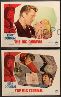 4r0023 ACE IN THE HOLE 8 LCs 1951 Billy Wilder classic, Kirk Douglas, Jan Sterling, The Big Carnival