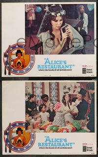4r0025 ALICE'S RESTAURANT 8 int'l LCs 1969 Arlo Guthrie, Quinn, musical comedy directed by Arthur Penn!
