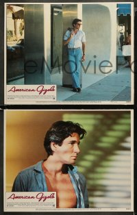 4r0029 AMERICAN GIGOLO 8 LCs 1980 handsomest male prostitute Richard Gere & Lauren Hutton!