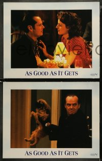 4r0032 AS GOOD AS IT GETS 8 LCs 1997 images of Jack Nicholson as Melvin, Helen Hunt, Greg Kinnear!