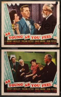4r0371 AS YOUNG AS YOU FEEL 7 LCs 1951 great images of Monty Woolley, Thelma Ritter, Jean Peters!