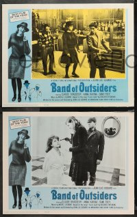4r0033 BAND OF OUTSIDERS 8 LCs 1966 Jean-Luc Godard's Bande a Part, Anna Karina, Claude Brasseur