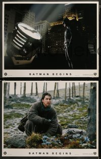4r0009 BATMAN BEGINS 10 LCs 2005 Christian Bale as the Caped Crusader, Katie Holmes, Michael Caine!