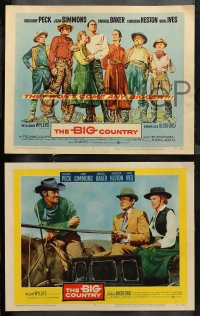 4r0037 BIG COUNTRY 8 LCs 1958 Gregory Peck, Simmons, Baker, Ives, Connors, William Wyler!