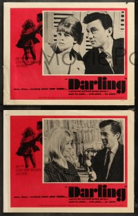4r0377 DARLING 7 LCs 1965 sexy Julie Christie with Laurence Harvey & Dirk Bogarde, John Schlesinger!