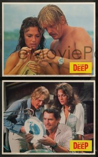 4r0378 DEEP 7 LCs 1977 Jacqueline Bisset & Nick Nolte with find treasure in the ocean, Peter Yates!