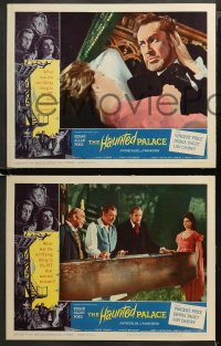 4r0381 HAUNTED PALACE 7 LCs 1963 Vincent Price, Lon Chaney, Edgar Allan Poe, cool horror images!
