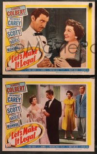 4r0385 LET'S MAKE IT LEGAL 7 LCs 1951 Claudette Colbert, Zachary Scott, Carey, Bates, Robert Wagner!