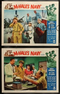 4r0388 McHALE'S NAVY 7 LCs 1964 wacky images of sailors Ernest Borgnine & Tim Conway!