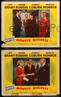 4r0393 MONKEY BUSINESS 7 LCs 1952 Cary Grant, Ginger Rogers, Coburn. Marlowe, Howard Hawks!