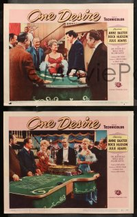 4r0395 ONE DESIRE 7 LCs 1955 great images of Rock Hudson, Anne Baxter & Julie Adams, casino gambling!