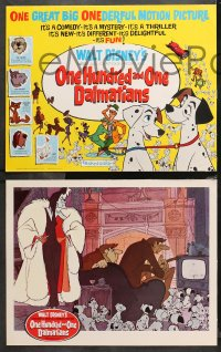 4r0014 ONE HUNDRED & ONE DALMATIANS 9 LCs 1961 classic Walt Disney canine cartoon, complete set!