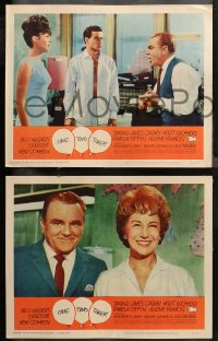 4r0396 ONE, TWO, THREE 7 LCs 1962 Billy Wilder, Horst Buchholz with Pamela Tiffin & James Cagney!