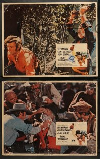 4r0397 PAINT YOUR WAGON 7 LCs 1969 Clint Eastwood, Lee Marvin, Jean Seberg, Lesser border art!