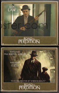 4r0012 ROAD TO PERDITION 10 LCs 2002 Sam Mendes directed, c/u of Tom Hanks & boy driving car!