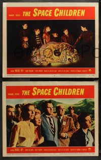 4r0298 SPACE CHILDREN 8 LCs 1958 the giant alien brain, kids playing with glowing space brain!