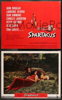 4r0016 SPARTACUS 9 roadshow LCs 1961 Kubrick classic, Kirk Douglas, Laurence Olivier, Jean Simmons!