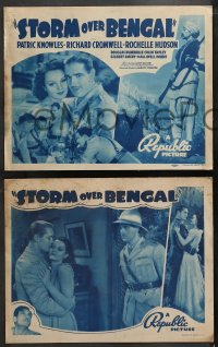 4r0303 STORM OVER BENGAL 8 LCs R1940s Patric Knowles, Richard Cromwell, pretty Rochelle Hudson!