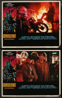 4r0306 STREETS OF FIRE 8 LCs 1984 Michael Pare, Diane Lane, rock 'n' roll, directed by Walter Hill!