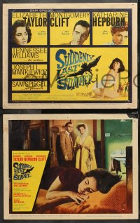 4r0308 SUDDENLY, LAST SUMMER 8 LCs 1960 Katherine Hepburn, Liz Taylor, Clift, Tennessee Williams!