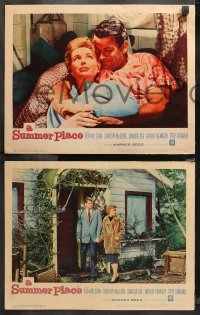 4r0309 SUMMER PLACE 8 LCs 1959 Delmer Daves, Richard Egan, Troy Donahue, sexy young Sandra Dee!