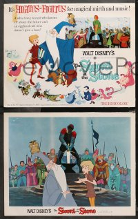 4r0017 SWORD IN THE STONE 9 LCs 1964 Disney's cartoon story of young King Arthur & Merlin the Wizard!