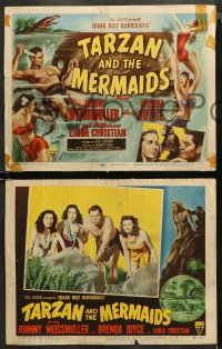 4r0315 TARZAN & THE MERMAIDS 8 LCs 1948 Johnny Weissmuller with Linda Christian, complete set!