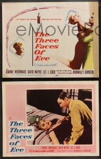4r0323 THREE FACES OF EVE 8 LCs 1957 David Wayne, Joanne Woodward has multiple personalities!