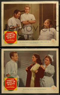 4r0401 THREE MEN IN WHITE 7 LCs 1944 Van Johnson can't keep sexy Ava Gardner but wants to help her!