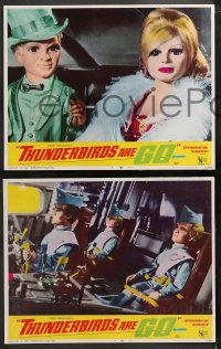 4r0324 THUNDERBIRDS ARE GO 8 LCs 1967 marionette puppets, cool sci-fi images, rare complete set!