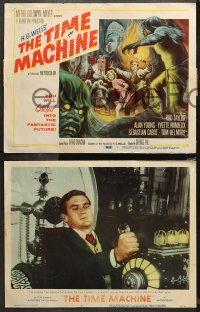 4r0326 TIME MACHINE 8 LCs 1961 H.G. Wells, Rod Taylor, Yvette Mimieux, directed by George Pal!