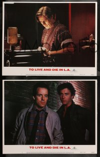 4r0329 TO LIVE & DIE IN L.A. 8 LCs 1985 William Friedkin, William Peterson, Willem Dafoe!