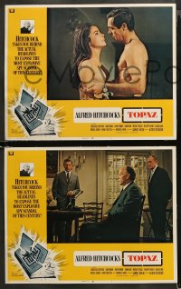4r0331 TOPAZ 8 int'l LCs 1969 Alfred Hitchcock, Forsythe, most explosive spy scandal of this century