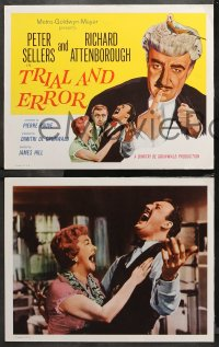 4r0336 TRIAL & ERROR 8 LCs 1963 MGM presents wacky Peter Sellers, Richard Attenborough!