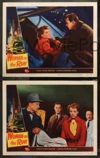4r0405 WOMAN ON THE RUN 7 LCs 1950 cool images of Ann Sheridan, Dennis O'Keefe, film noir!