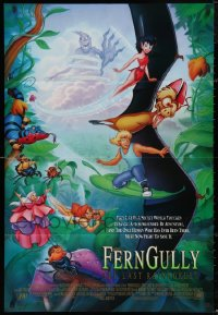 4x0232 LOT OF 13 FOLDED FERNGULLY ONE-SHEETS 1992 The Last Rainforest fantasy cartoon!